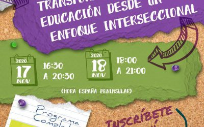 "Asun Pié and Andrea García-Santesmases participate in the 1st International Conference ""Deconstructing and transforming education from an intersectional approach"""